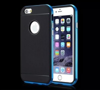 For iphone 6 plus 5.5 case Metal frame with hole case with Retail Packaging