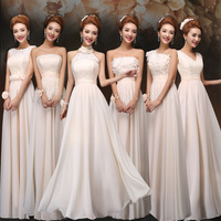 bridesmaid formal dress champagne long design slim evening dress sister dress bandage plus size evening dresses free shipping
