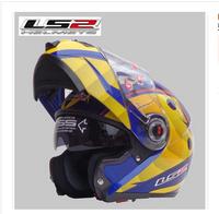 Free shipping Genuine LS2 Motorcycle exposing dual lens visor helmet full helmet FF370 run glare reducer high quality low price