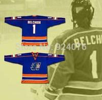 Doug The Thug Marco Belchior #1 Goalie Halifax Highlanders Hockey Jersey Goon Movie