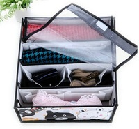Four-cell  Non-woven Fabric storage box for underwears socks  and  bras