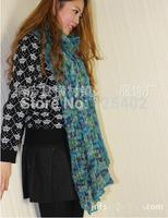 Wholesale Luxury Europe USA Fashion Stripe Long Knitting Wool Scarf Women Scarf W11 Solid Pattern 4Colors Free Shipping