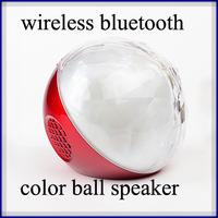 led flash color ball bluetooth speaker with remote control fm radio mini wireless bluetooth speaker hand free 100pcs