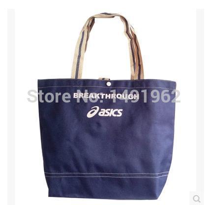 Ms. portable Monogram canvas casual blue shopping bag free shipping(China (Mainland))