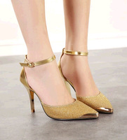 2014 Spring New Arrived European Sexy Rivets Pumps Colors Block Pointed High Heels Women Pumps Summer Shoes