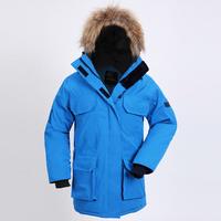 Fashion 2015 Womens Long Winter Coat Warm Expedition Goose Down Parka Raccoon Fur Hood Coat Large Size UPS/EMS Free Shipping