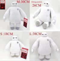 18-38CM 4pcs/Set BigHero 6 Baymax Stuffed Plush Robot Doll Large Ultra Soft Baby Classic Toys Christmas Gifts For Children