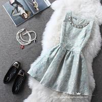 new fashion 2014 korea autumn winter beading sleeveless empire cute wmoen Tutu dress S M L XL
