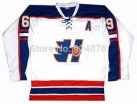 Doug The Thug GOON Movie Hockey Jersey Doug Glatt #69 White Halifax Highlanders Jerseys - Custom Any Name Number XXS-6XL
