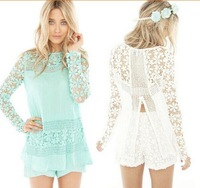 Blusas Femininas 2014 New Arrival Hot Sale Blouse Vintage-inspired Women Blouses Crochet Lace Casual Shirt blusas