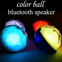 mini led flash color ball speaker wireless bluetooth support extended memory fm radio loud speaker #Q8 DHL free shipping 15pcs