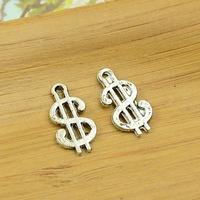 300pcs/lot A3856 antique silver dollar shape  alloy charm pendant fit jewelry making 17x9mm wholesale