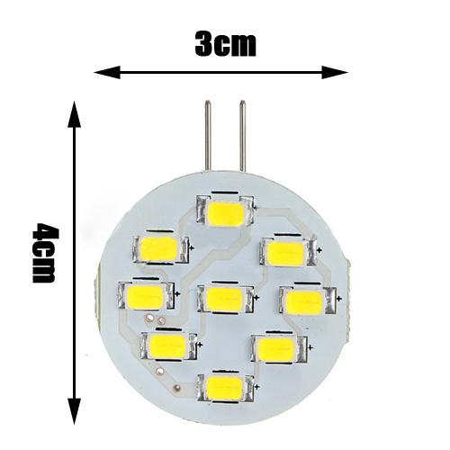 4X G4 3W 5630 SMD 9 LED 380LM Pure White 6500K Cabinet RV Light Bulb Lamp 12V Wonderful Gift(China (Mainland))
