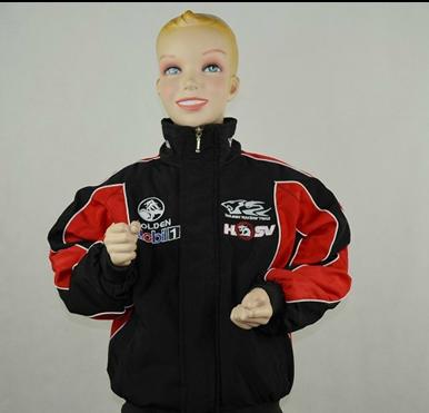 F1 halton roupas automóvel carro de corrida criança do sexo masculino outerwear criança outono e inverno raça de automóvel jaqueta de algodão acolchoado(China (Mainland))