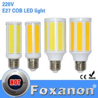 Foxanon Brand E27 COB SMD Led Lamps 220V 7W 10W LED Lights Corn Led Bulb Christmas Spotlight Chandelier Candle Lighting 1PCS/Lot