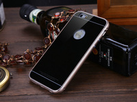 """New Luxury Aluminum metal frame Tempered glass Case For Apple iPhone 6 5.5 """" Phone Back Cover for iphone6 plus cases + Free Film"""