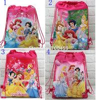 Wholesale 180pcs New Pattern Cartoon Snow White Printing Drawstring Backpack Kids School Shoulder Bag Shopping Bag