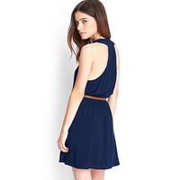 Women Chiffon Dress With Belt Single-Breasted Deep V-Neck Sleeveless Strapless H-Shaped Tank Top Short Style Evening Dress D647