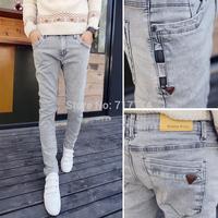 Free shipping 2014 winter new fashion slim water wash jeans skinny men brand mens true jeans pants