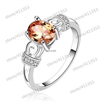 R645-A 925 Silver plated new design finger ring for lady