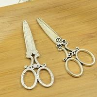 50pcs/lot A3882 antique silver  Scissors shape  alloy charm pendant fit jewelry making 60x25mm wholesale
