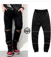 Hi-Street  Men Leg Zipper  Harem Pants Hip hop Casual Sport Jogger Sweatpants