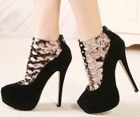 christmas black friday fashion girls sexy thin high heels ladies wedding shoes woman 2015 female platform women pumps GX140786