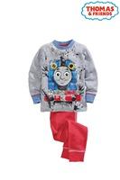 6sey/lot 2015 New Design Train Girls Boys Long Sleeve Children's Pajamas Kids sleepwear Child Pyjama baby wear Free Shipping