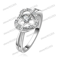 R643-B 925 Silver plated new design finger ring for lady