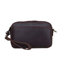 2014 New Vintage Style Men's Genuine Leather Large Clutch Wallets Handbag For Man Business Double Zipper Bag Clutch Bag Wristlet
