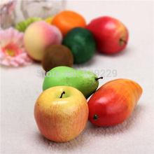 5pcs/lot New Lifelike Home Decor Decorative PU Plastic Artificial Decorative Food Fake Fruit Free Shipping(China (Mainland))