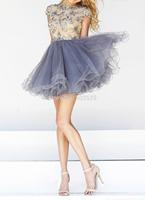 Real Photos Tulle Fabric Beading Handwork Dress Party Evening Elegant OL102484 vestidos de festa vestido longo