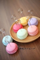 Macaron Card Stand Of Metal Clip Paper Clamp Card Holder Note Holder Photo Bookmark Office Stationery-Christmas Gift Novelty Toy
