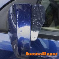 2 X SMOKE TRUCK AUTO REAR VIEW MIRROR RAINPROOF BLADE COVER WINDOW VISOR PLASTIC