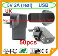 50 pcs 5V 2A EU USB UK Charger For Samsung Galaxy S5 I9500 S3 2A TOP speed charge For note 4 Galaxy NoteTable pc iphone 5S 6 6G