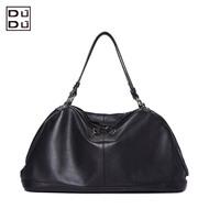 Free shipping fashion women genuine leather handbag casual tote two shoulder messenger bag
