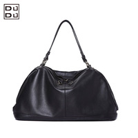 Free shipping fashion women genuine leather handbag casual tote two shoulder messenger bag