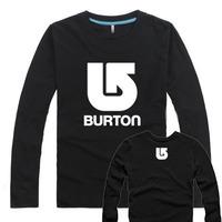 Good Quality print men apparel  t-shirt  Brand Burton fitness slim fit t-shirts men clothing   S-3XL    free  shipping