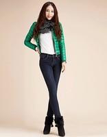 High waist thickening plus velvet jeans female thermal black skinny pants pencil trousers