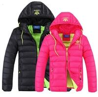 HOT 2014 Winter coat for men and women couple models  short section  cotton hooded jacket warm men down jacket women down jacket