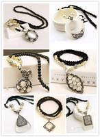 2015 New Fashion Western statement elegant Chain Pendant Cat Eye Stone Retro Party choker necklace jewelry