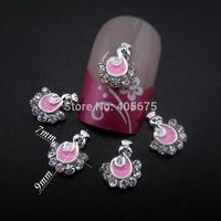 50pcs Glitter rhinestones nail studs peacock bird designs for nails decorations nail art supplies MNS785