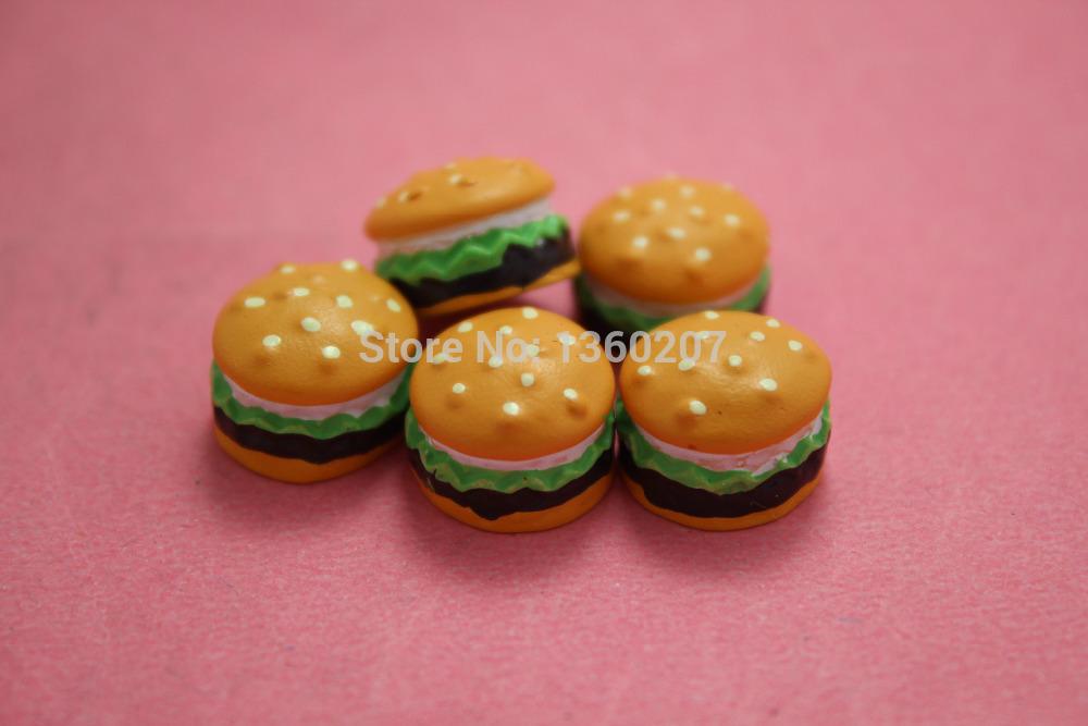 High Quality 50pcs/lot 11mm Resin Hamburger Kawaii Flatback DIY home decorations christmas Jewelry Mobile phone(China (Mainland))