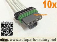 "longyue 10pcs Blower Motor Resistor Connector wiring harness 6"""