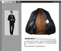 Autumn and winter plus velvet suits, men's business casual men's suits Korean Slim suits