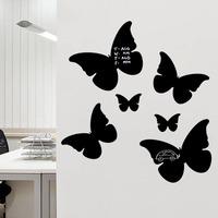 Butterfly shape blackboards removable and waterproof DIY blackboard wooden chalkboard wall Sticker quadro negro home decoration