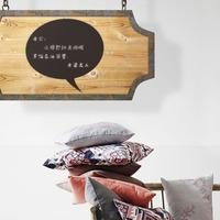 DIY Round shape blackboard removable and waterproof DIY wooden chalkboard  wall Sticker quadro negro of home decoration lousa