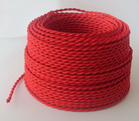 DHL free shipping twisted electrical wire twisted cable copper conductor textile cable braided wire cloth covered wire