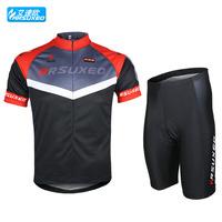 2015 men sport set sweat absorbing breathable ride cycling clothing moto cross short-sleeve jersey shirts mountain bike male