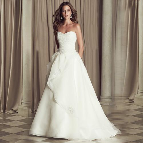 DVT 2014 novo vestido de noiva e moda high-end personalizado de fuga do casamento Strapless 003 bandage(China (Mainland))